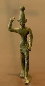 Bronze statuette of Baal from the 14th century BC