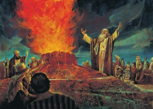 Elijah faces the prophets of Baal on Mount Carmel