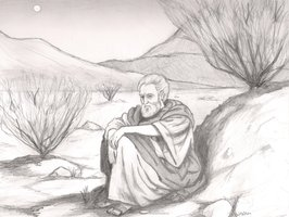 Elijah flees from Jezebel to the desert