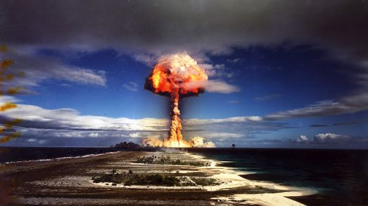 A super-powerful hydrogen bomb is tested