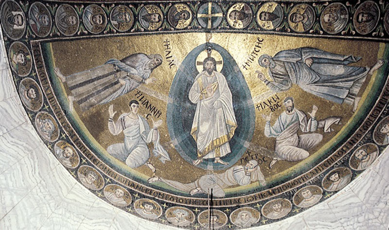 Transfiguration mosaic at St. Catherine church on Mount Sinai