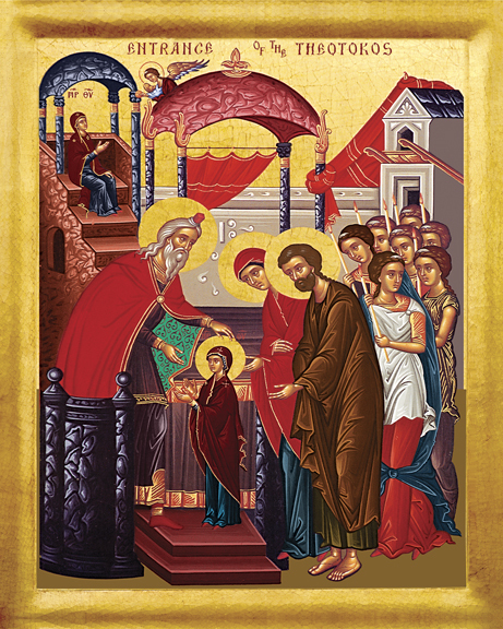 Icon of the Entrance of Mary in the Temple (click to enlarge)