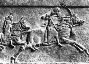 Assyrian horse and archer (Click to enlarge)