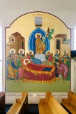 Dormition wall icon at Holy Trinity Church, Portland ME (click to enlarge)
