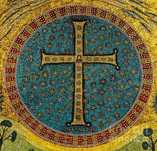 Mosaic Cross at San Apollinare Nuovo in Ravenna