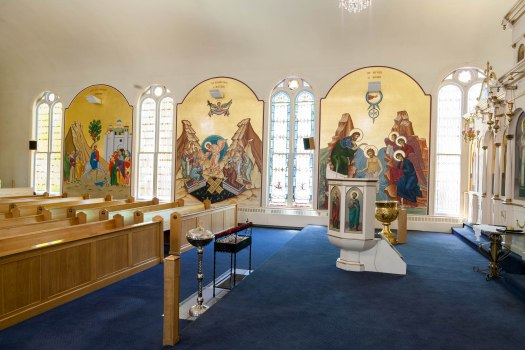 The North Wall at Holy Trinity Church, Portland, Maine (click to enlarge)