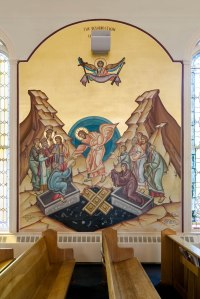 Resurrection wall icon at Holy Trinity Church, Portland ME (click to enlarge)