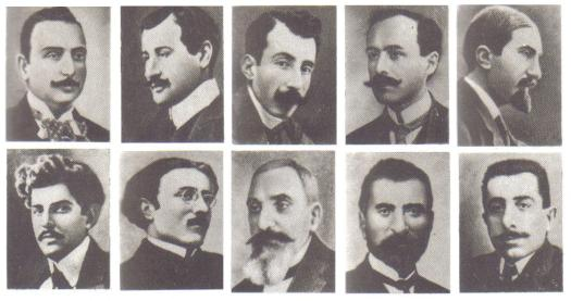 Armenian intellectuals who were arrested and later executed en masse by Young Turk government authorities on the night of 24 April 1915.