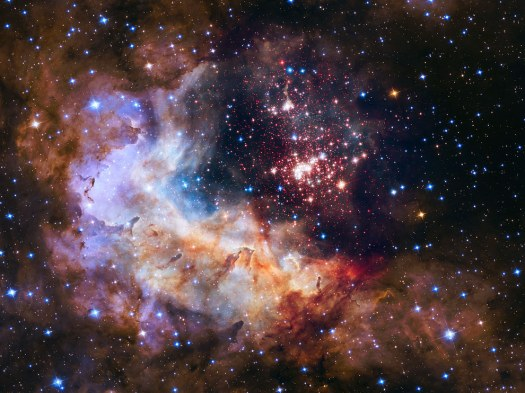 NASA Just Released This Image To Celebrate The Hubble Space Telescope's 25th Anniversary. The image shows a star cluster with some of the most massive stars ever discovered.