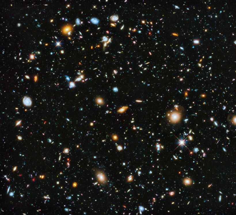 The Hubble Ultra Deep Field 2014 image includes galaxies existing shortly after the Big Bang.