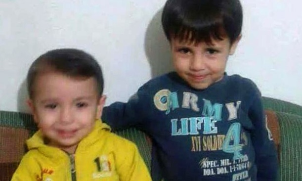 Aylan and his older brother Ghalib in a happier moment.