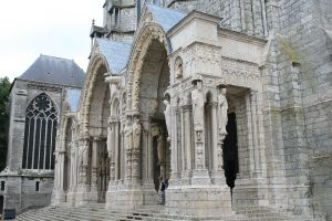 The North Porch at Chartres Cathedral (click to enlarge)