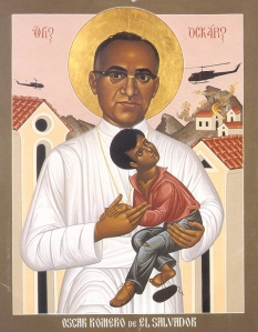 Oscar Romero, Roman Catholic Archbishop in El Salvador, paid with his life in 1980 for being a peacemaker. He is on the way to being proclaimed a Saint by Pope Francis.