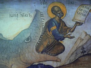 Medieval icon of Jonah (click to enlarge)