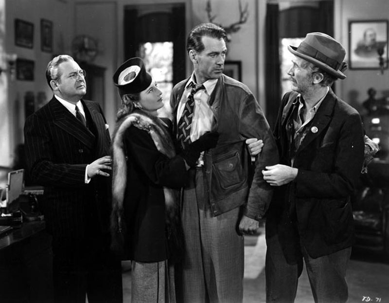 The four main characters in the film Meet John Doe - D. B. Norton, Ann Mitchell, John Doe and the Colonel