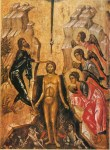 Medieval icon of the Baptism of Christ (Click to enlarge)
